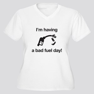Bad Fuel Day Women's Plus Size V-Neck T-Shirt
