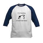 Bad Fuel Day Kids Baseball Jersey