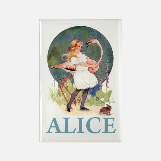 ALICE PLAYS THE QUEEN'S CROQUET - BLUE Rectangle M
