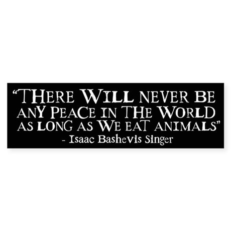 Never Be Peace - Wide Bumper Sticker