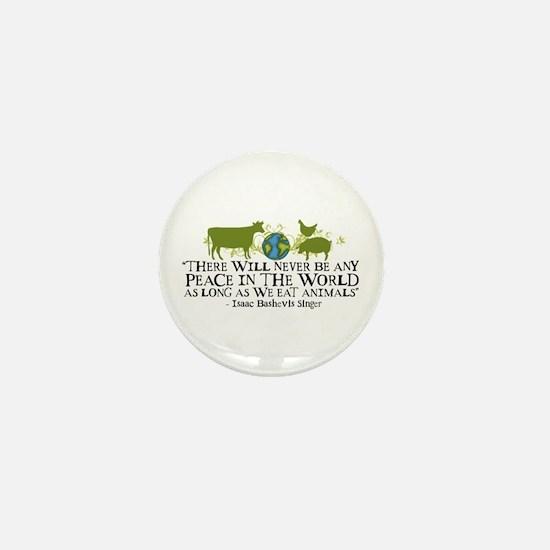 Never Be Peace - Wide Mini Button