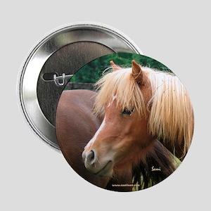 Classic Mini Horse Portrait Button