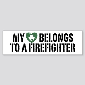 Fire Life Firefighter Decal – Decal - Car Window Decal - Sticker – White