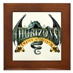 Classic Dragon Logo Framed Tile