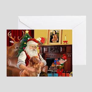 Santa/Nova Scotia Dog Greeting Card