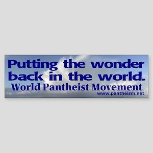 """""""Putting the wonder"""" Sticker (Bumper)"""