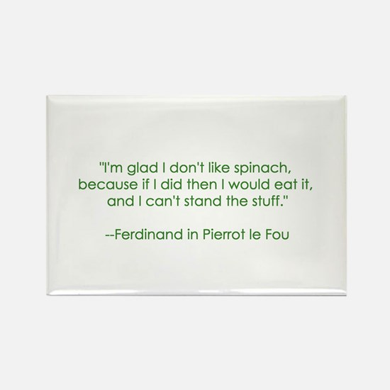 Spinach Quote Rectangle Magnet
