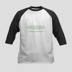 Spinach Quote Kids Baseball Jersey