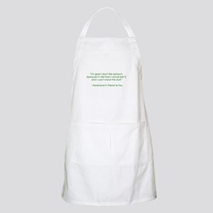 Spinach Quote BBQ Apron