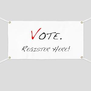 """""""Vote. Register Here!"""" Banner"""