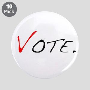 "Vote. 3.5"" Button (10 pack)"