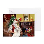Santa's Samoyed Greeting Cards (Pk of 20)