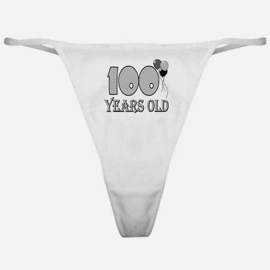 100th Birthday GRY Classic Thong