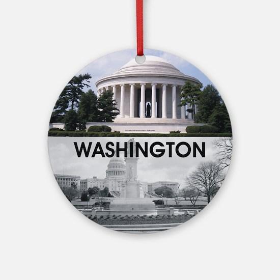 Washington Americasbesthistory.com Round Ornament