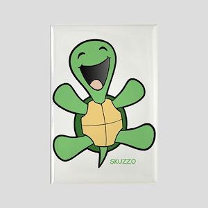 Skuzzo Happy Turtle Rectangle Magnet