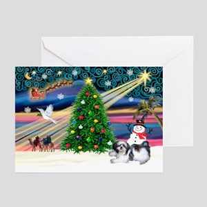XmasMagic/Shih Tzu (11) Greeting Cards (Pk of 20)