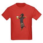 BT Lederhosen Doxie Kids Dark T-Shirt