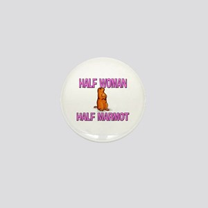 Half Woman Half Marmot Mini Button