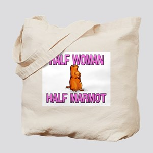 Half Woman Half Marmot Tote Bag