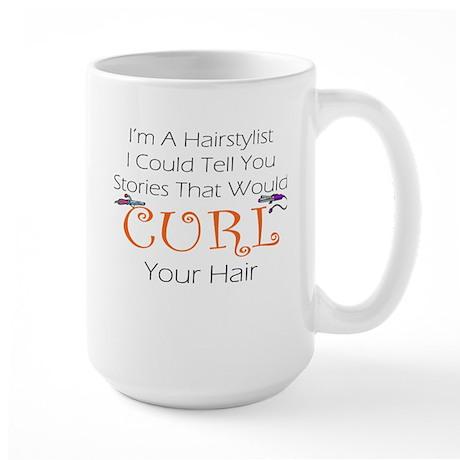 CURL Your Hair Large Mug