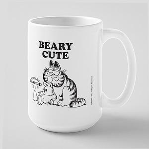 Beary Cute Garfield and Pooky Large Mug