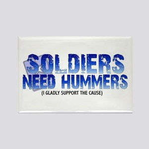 Soldies Need Hummers Rectangle Magnet