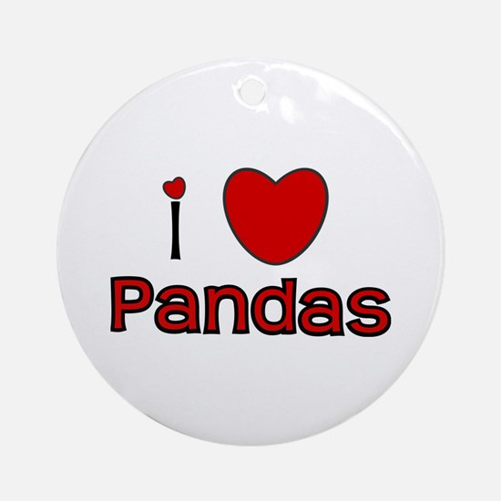 I Love Pandas Ornament (Round)