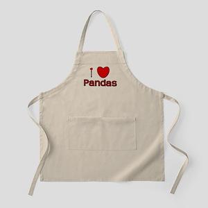 I Love Pandas BBQ Apron