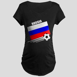 Russia Soccer Team Maternity Dark T-Shirt