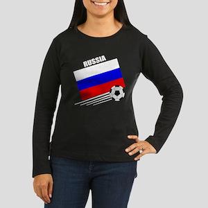 Russia Soccer Team Women's Long Sleeve Dark T-Shir