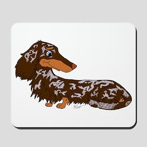 Chocolate Dapple Dachshund Mousepad