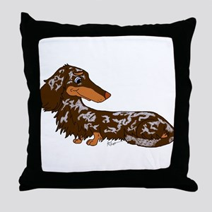 Chocolate Dapple Dachshund Throw Pillow