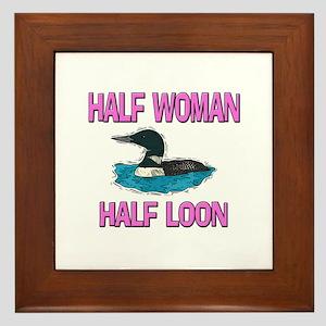 Half Woman Half Loon Framed Tile
