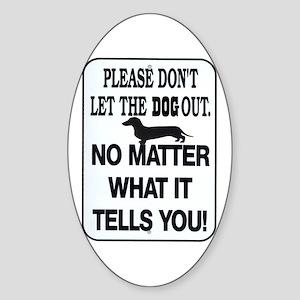 No Matter What Oval Sticker
