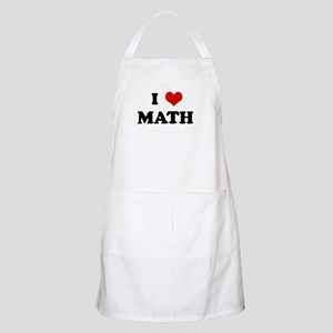 I Love MATH BBQ Apron