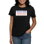 McCain 2008 - Say no to BO Women's Dark T-Shirt