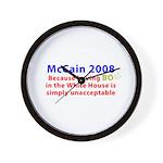 McCain 2008 - Say no to BO Wall Clock