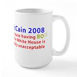 McCain 2008 - Say no to BO Large Mug