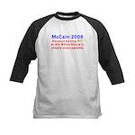 McCain 2008 - Say no to BO Kids Baseball Jersey