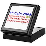 McCain 2008 - Say no to BO Keepsake Box