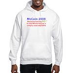 McCain 2008 - Say no to BO Hooded Sweatshirt