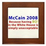 McCain 2008 - Say no to BO Framed Tile