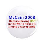 """McCain 2008 - Say no to BO 3.5"""" Button"""
