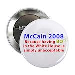 """McCain 2008 - Say no to BO 2.25"""" Button"""