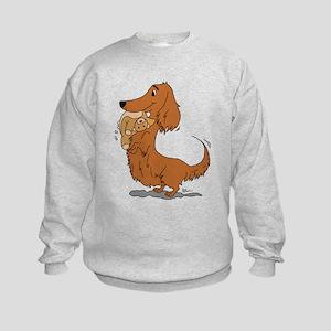 Dachshund and Bear Kids Sweatshirt
