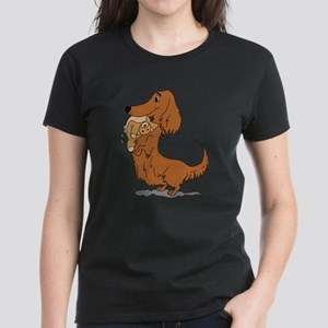 Dachshund and Bear Women's Dark T-Shirt