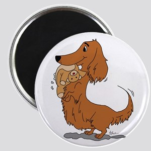 Dachshund and Bear Magnet