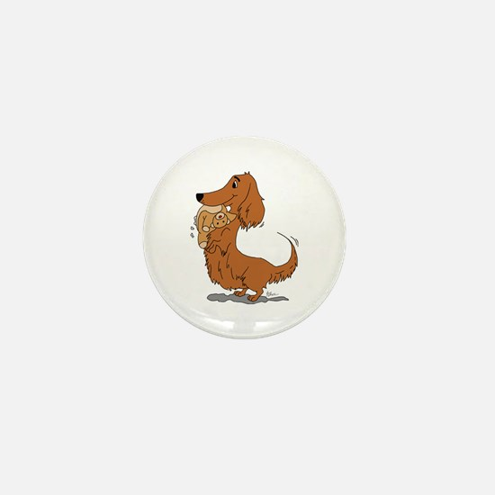 Dachshund and Bear Mini Button