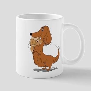 Dachshund and Bear Mug