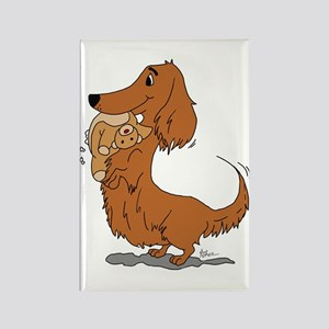 Dachshund and Bear Rectangle Magnet